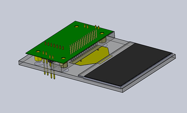 3D design of OLED test jig