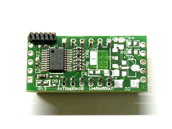 Modified voltmeter with I2C interface