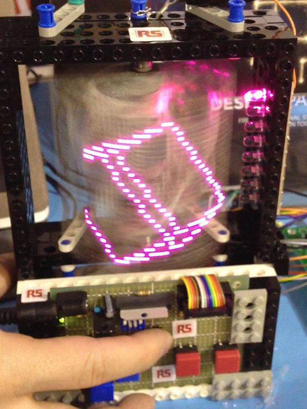 Rotating LED POV display
