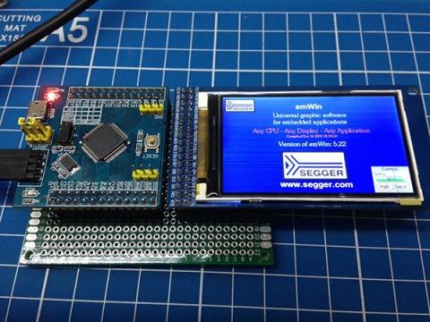 HX8352C emWin development board