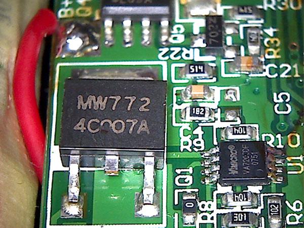 XP4001 charging circuit