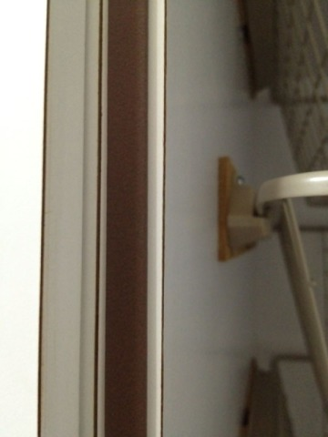 Rubber strip along door frame